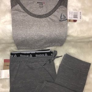 NWT - girl's sweat pants and top Reebok L/XL-2pc